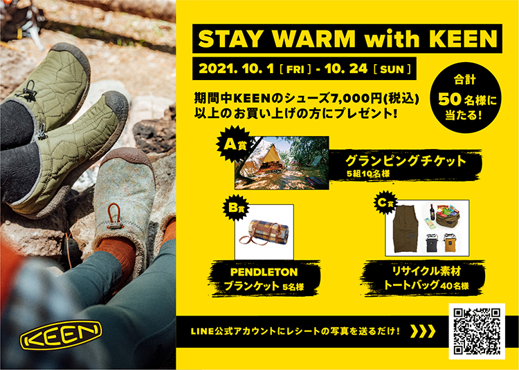 STAY WARM with KEEN
