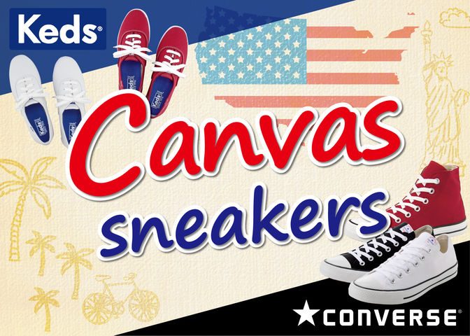 Keds&CONVERSE Canvas sneakers