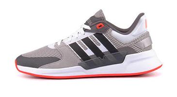 adidas RUN90S グレーTWO/コアブラック/ソーラーレッド<