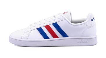 adidas GRANDCOURT ランニングホワイト/ブルー/アクティブレッド
