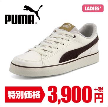 PUMA(プーマ) COURT POINT VULC V2 SL SD BG(コートポイントバルクV2SLSDBG) 366142 07 ウィスパーホワイト/チョコレート
