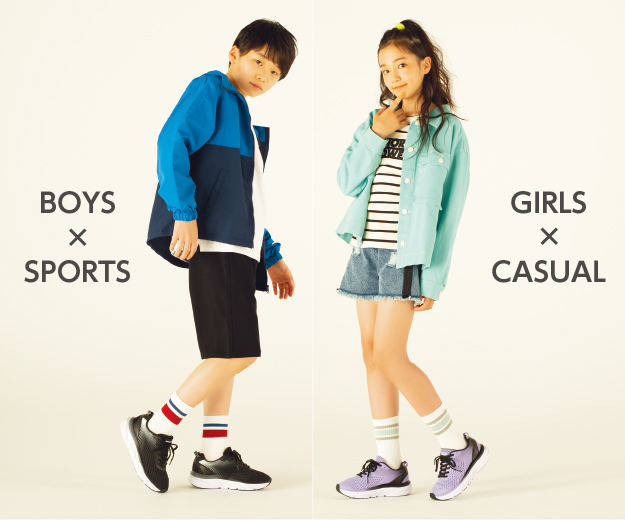 BOY×SPROTS GIRLS×CASUAL
