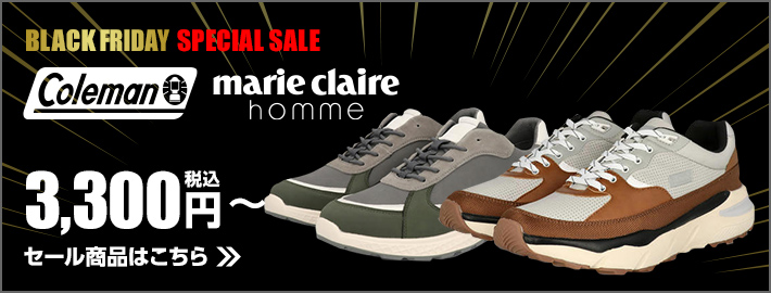 BLACKFRIDAY SPECIAL SALE Coleman marie claire homme 税込3,300円〜