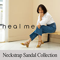 heal me(ヒールミー)足元の安定感で定番人気の ネックストラップサンダル